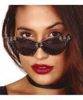 Feest horror verkleed zonnebril met schedels voor dames