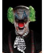 Feest horrorclown schmink set met masker en pruik