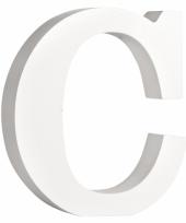 Feest houten letter c 11 cm