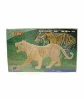Feest houten tijger beest bouwpakket