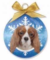 Feest huisdieren kerstballen honden cavalier