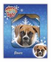 Feest huisdieren kerstballen hondjes boxer