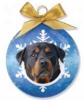 Feest huisdieren kerstballen hondjes rottweiler