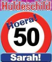 Feest huldeschilden sarah 50 jaar