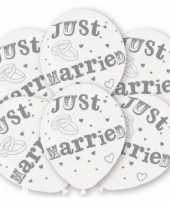 Feest huwelijk ballonnen just married 6 st