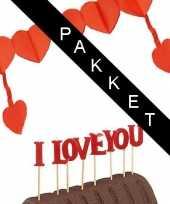 Feest i love you emotie pakket