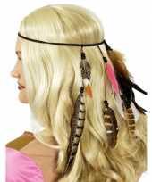 Feest indianen hoofdband met veren
