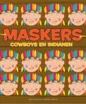 Feest indianen kleurmaskers 10 stuks