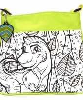 Feest inkleurbare dinosaurus tas voor kinderen