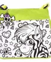 Feest inkleurbare zebra tas voor kinderen