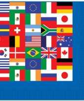 Feest internationale servetjes 16 stuks