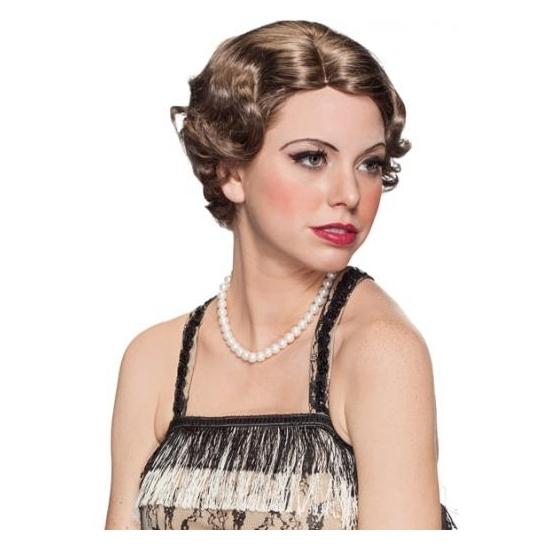 Feest jaren 20 kapsel pruik voor dames