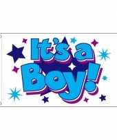 Feest jongens geboorte vlag 90 x 150 cm