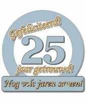 Feest jubileum borden 25 jaar getrouwd