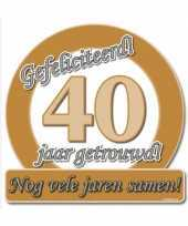 Feest jubileum borden 40 jaar getrouwd