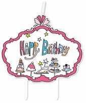 Feest kaarsje jill happy birthday verjaardag