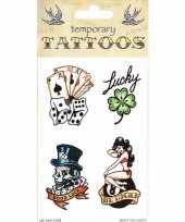 Feest kaarten plak tattoos 10090834