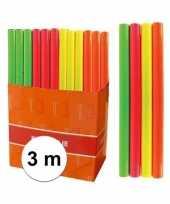 Feest kaftpapier folie schoolboeken neon oranje 3 meter