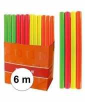Feest kaftpapier folie schoolboeken neon oranje 6 meter