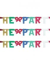 Feest kartonnen banner letters k