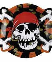 Feest kartonnen eetborden met piraten