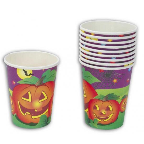 Feest kartonnen halloween bekers 10 stuks