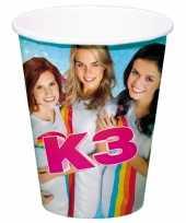 Feest kartonnen k3 drinkbekertjes