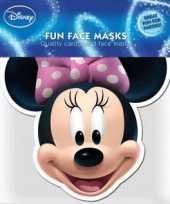 Feest kartonnen masker minnie mouse