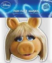 Feest kartonnen masker miss piggy
