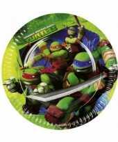 Feest kartonnen ninja turtles bordjes 23 cm