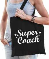 Feest katoenen cadeau tasje super coach zwart