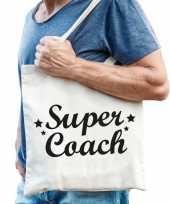 Feest katoenen cadeau tasje super coach