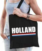 Feest katoenen nederland supporter tasje holland zwart
