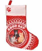 Feest katten poezen kerstsokken i have been a very good cat