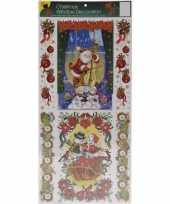 Feest kerst decoratie raamstickers met glitters type 1
