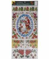 Feest kerst decoratie raamstickers met glitters type 3