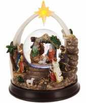 Feest kerst decoratie sneeuwbol 23 cm type 1 met led verlichting
