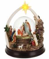 Feest kerst decoratie sneeuwbol 23 cm type 2 met led verlichting