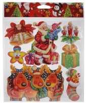 Feest kerst decoratie stickers rood groen multi type 2