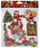 Feest kerst decoratie stickers rood groen multi type 3
