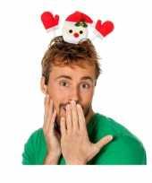 Feest kerst diadeem zwaaiende kerstman