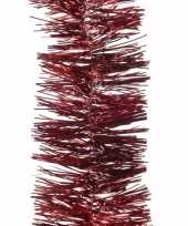 Feest kerst donkerrode folieslinger ambiance christmas 270 cm