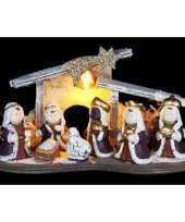 Feest kerst kerststal decoratie led 16 cm