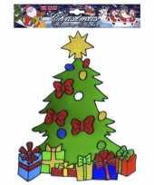 Feest kerst raamsticker kerstboom