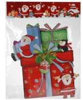 Feest kerst raamstickers raamdecoratie 3d cadeautje 25 x 34 cm