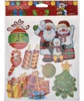 Feest kerst raamstickers raamdecoratie 3d stickers type 1 29 x 36 cm