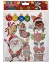Feest kerst raamstickers raamdecoratie 3d type 2 29 x 36 cm
