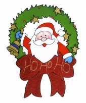 Feest kerst raamstickers raamdecoratie kerstman plaatjes 30 cm
