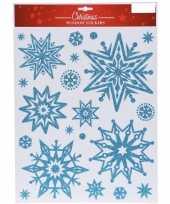 Feest kerst raamstickers raamdecoratie sneeuwvlok plaatjes 30 x 40 cm 10137814