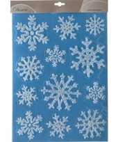 Feest kerst raamstickers raamdecoratie sneeuwvlok plaatjes 30 x 40 cm